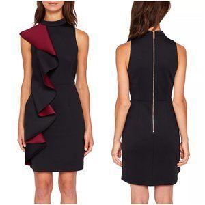 Ted Baker Fleuh Contrast Ruffle Dress